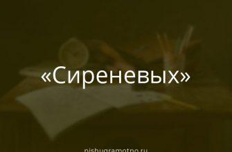 """Морфологический разбор слова """"сиреневых"""""""